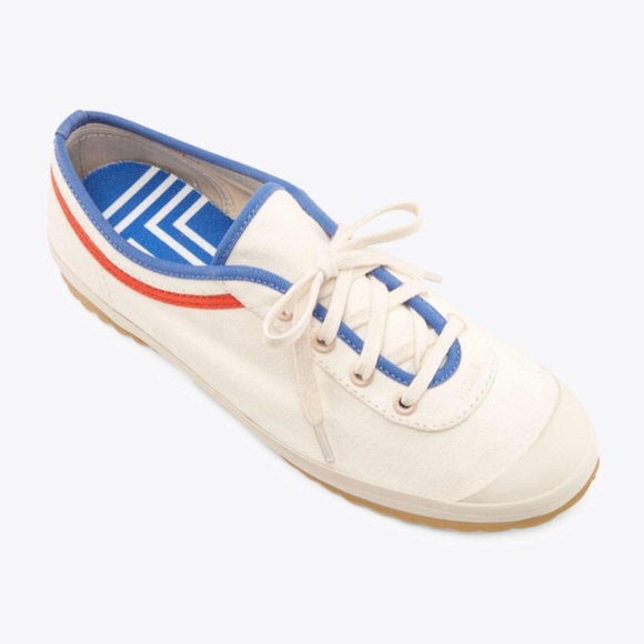 Lace-up Sneakers Ivory / Sailing Blue / Poppy Red